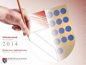 Annual Report 2014 IPADE