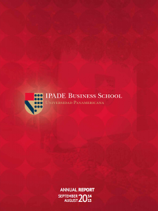 Annual Report 2015 IPADE