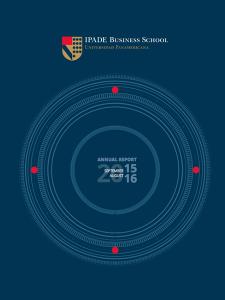 IPADE Annual Report 2016