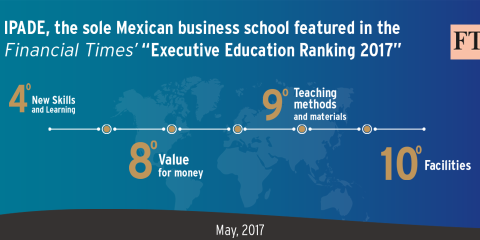 IPADE the Sole Mexican Program Featured in the FT Executive Education Rankings 2017